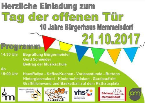 Zehn Jahre Bürgerhaus in Memmelsdorf