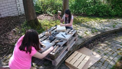Bildhauer-Projekt an der OGTS der Ferdinand-Dietz-Mittelschule Memmelsdorf
