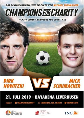 Veranstaltungshinweis: Champions for Charity am 21. Juli 2019
