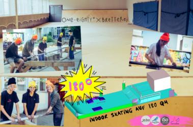 Spendenaufruf: ONE EIGHTY° – Indoor Skating auf 180m²